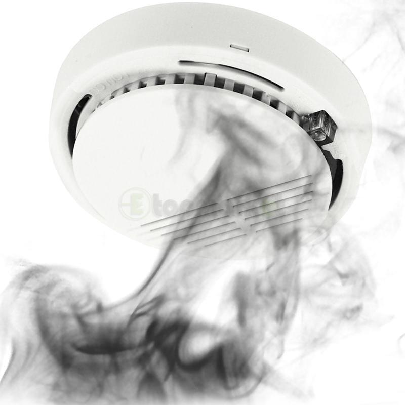 Security Fire Alarm Wireless Smoke Detector Cordless New Home Sensor System
