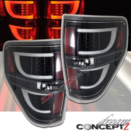 led tail lights for 2009 2014 f150 pickup truck clear lens black style. Black Bedroom Furniture Sets. Home Design Ideas