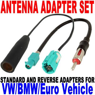 40-EU30 Antenna BMW Audio VW Adapter Pair New EU-6+EU-7