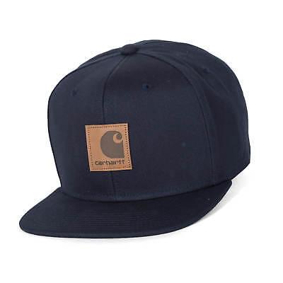 Carhartt WIP Logo Cap dark navy Snapback Kappe in blau mit Logo Patch Carhartt Logo-patch