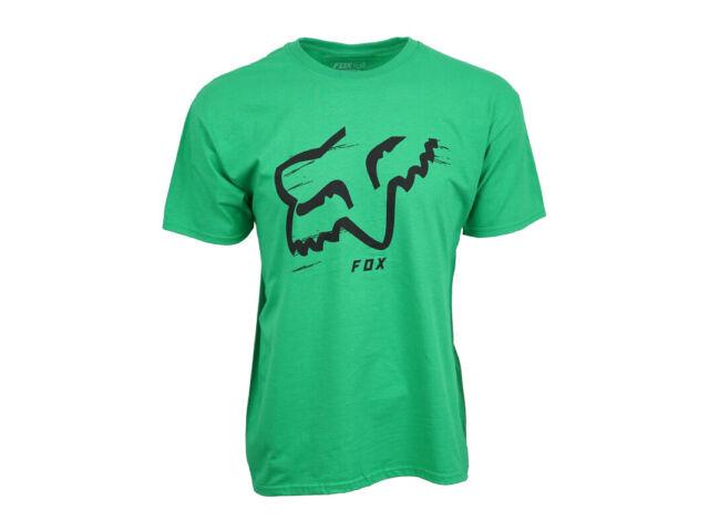 FOX RACING MENS FOX LOGO GREEN T SHIRT