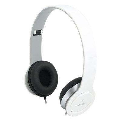 Headset Stereo Mikrofon Kopfhörer Overear PC Smartphone Computer Laptop Weiß Laptop Headset Mikrofon