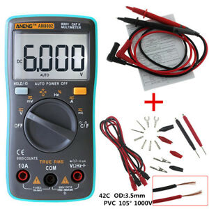 Digital-Multimeter-metros-Fluke-voltios-tester-Backlight-ac-dc-Voltmeter-Portable