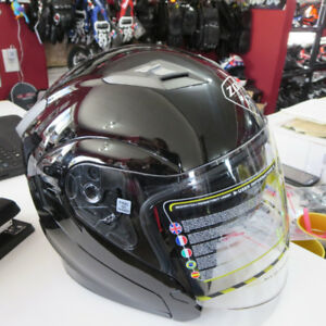 Zoan 3/4 Motorcycle Helmet With Shield And Drop Down Sun Visor.