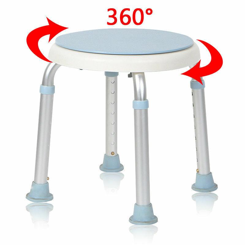 136 kg Duschhocker Rund Duschstuhl Duschhilfe Badhocker Badehocker 360° Drehbar