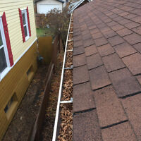Gutters and downspouts cleaning