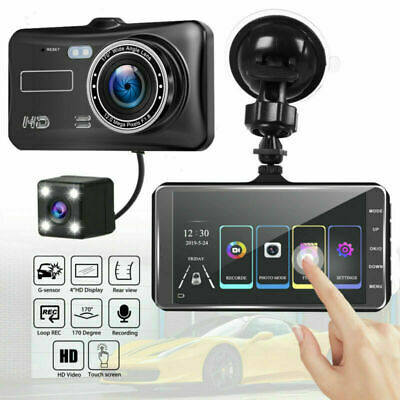 4inch Car DVR Dual Lens HD 1080P Dash Cam Video Recorder Camera Touch Screen