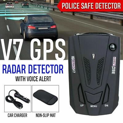 車のレーダー16バンドV7 GPS速度の警察の安全な探知器の音声警報レーザー360度