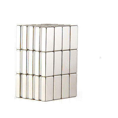 Lot Of 100 50 1053mm Block Rare Earth Neodymium Super Strong Magnets N50