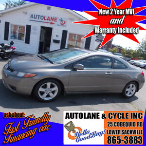 2007 Honda Civic Coupe  Sunroof Alloys RELIABLE SHARP CAR!!!