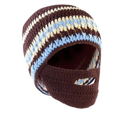 Bartmütze: Lustige Mütze mit Bart, braun-türkis (Winter-Mütze für Herren) - Lustige Mütze