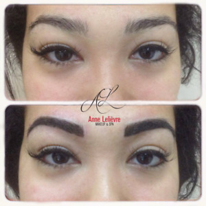 Permanent makeup and microblading on Decarie or in P.A.T.