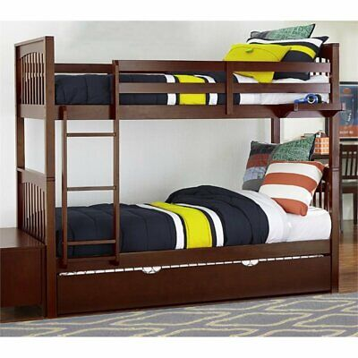 Rosebery Kids Twin Over Twin Slat Bunk Bed with Trundle in C