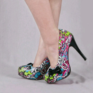 Platform Pump Wedge Iron Fist Charlotte Ruse x Eye Candies Heels