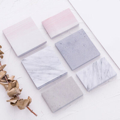 Geometry Stones Paper Sticky Notes Memo Pad Self-adhesive Office School Stickers