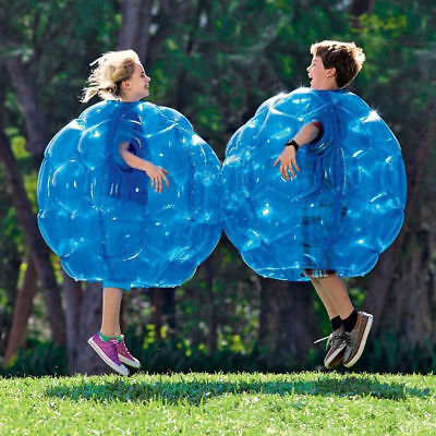 23 6  Diam Blue Inflatable Bubble Ball Bumper Football Soccer Kids Outdoor Toy