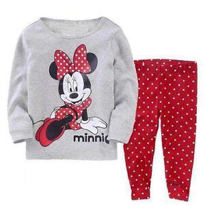 Enfants b b fille no l mickey v tements de nuit pyjama - Noel fille 8 ans ...