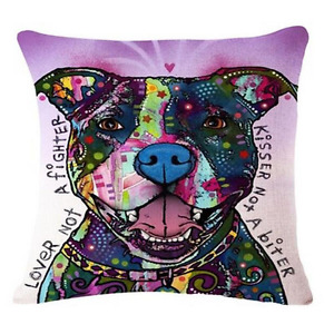 Brand New- Artsy Pit Bull Inspirational Decorative Pillow Covers