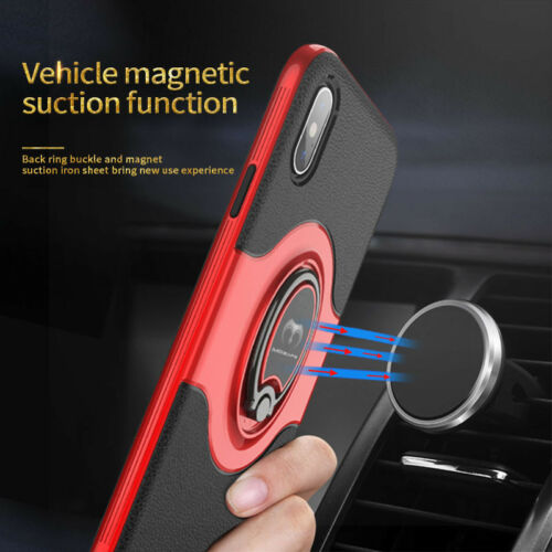 For iPhone XS Max XR X 7 8 Plus Ring Shockproof Protective Rugged TPU Case Cover