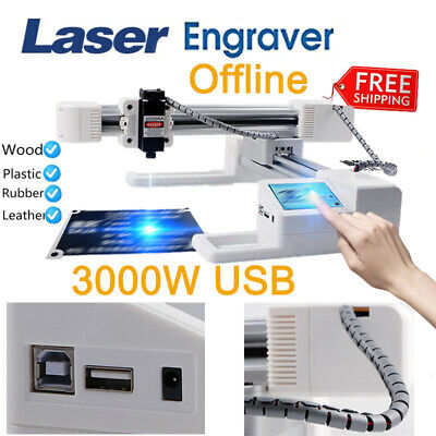 Offline Laser Engraver Engraving Carving Machine 3w 17.71x6.29 Lcd 3000mw