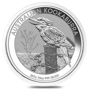 Pièce en argent/silver bullion Kookaburra 2016 10 oz/ounces