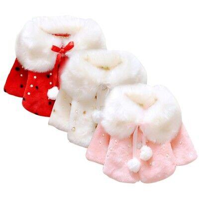 0-3 Jahre Kinder Baby Mantel Mädchen Warm Winter Jacke Pelzmantel Kapuzenjacke