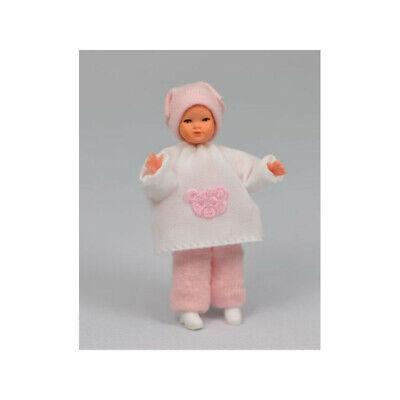 """Caco 08024600 Puppe """"Baby mit Kopftuch"""" 5,5 cm Biegepuppe 1:12 Puppenhaus NEU!#"""