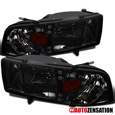 For 1994-2001 Dodge Ram 1500 2500 3500 LED DRL Smoke Lens Headlights Lamps Pair