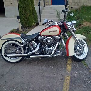 """86 heritage softail with 88"""" beefed up twin cam"""