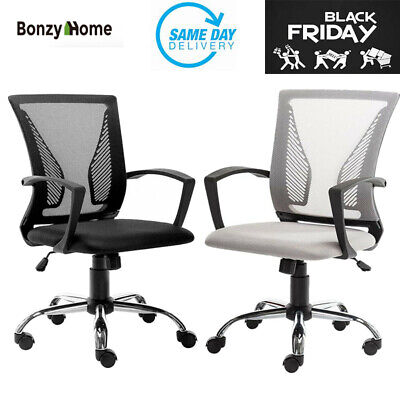 Office Mesh Chair Mid-back Swivel Computer Gaming Desk Chair Black Friday Gift