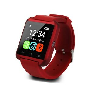 (SALE) BRAND NEW Red Bluetooth Smart Wrist Watch for Android