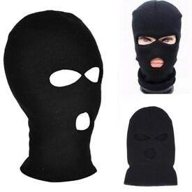 New 3 Holes Ski Mask Balaclava Black Hat Face Shield Beanie Cap Snow Winter Warm