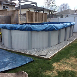 24 x12 Above Ground Oval Pool w/ heater, filter and accessories