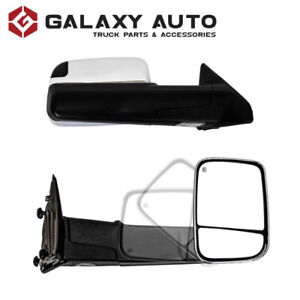 NEW Chrome Towing Mirrors for 09-18 Dodge Ram 1500/2500/3500