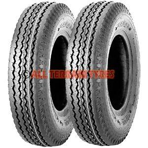 400-8 4.00-8 400x8 4.80/4.00-8 PAIR  4 Ply High Speed Trailer Wheelbarrow Tyres