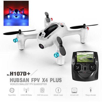 Hubsan H107D+ X4 Plus 2.4G Mini Headless RC FPV Quadcopter 720P HD Camera RTF US