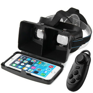 New Virtual Reality 3D VR Headset Glasses + Bluetooth Controller