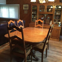 SOLID BIRCH DININGROOM SET