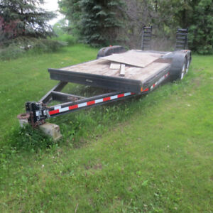 7 TON TANDEM beaver tail FLOAT TRAILER
