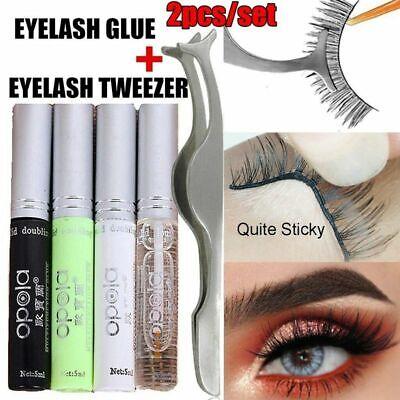Eyelash Double Eye lid Adhesive Eyelid Glue Eyelashes Makeup with Tweezer (Adhesive Makeup)
