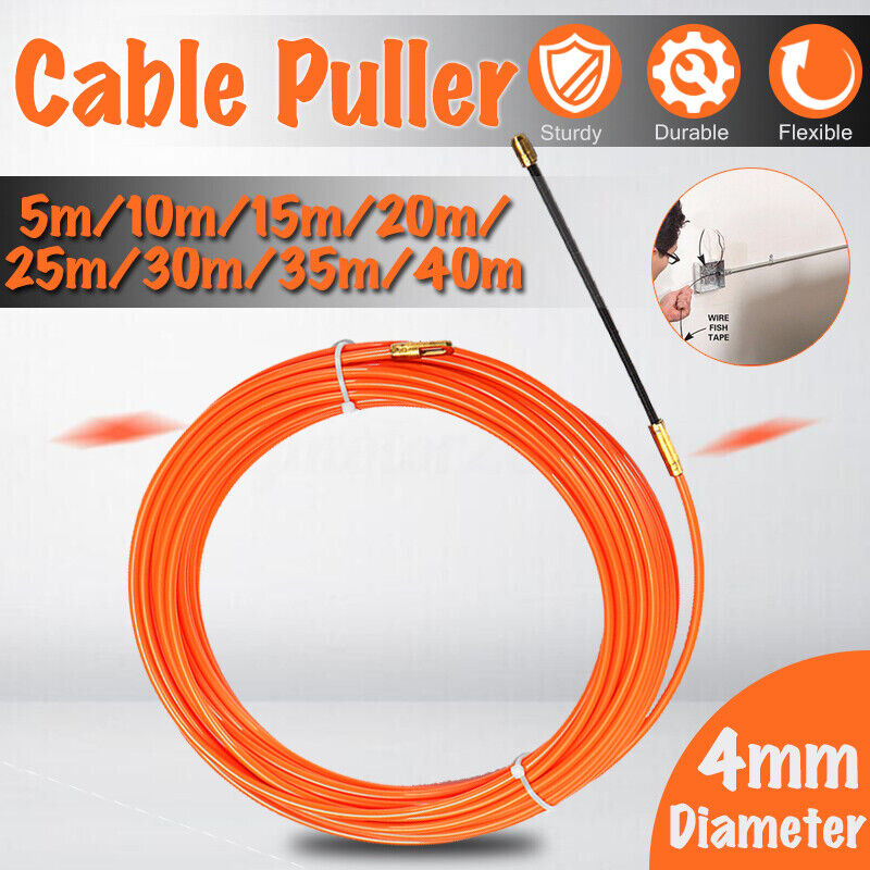 4MM Flexible Electrician Cable Push Puller Rodder Conduit Nylon Fish Tape