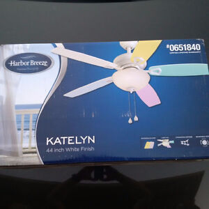 Two beautiful Katelyn ceiling fans - brand new in box!
