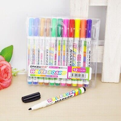 Hot 12 Colors-whiteboard Markers White Board Dry-erase Marker Pens Set Cvb