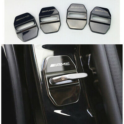 für Benz Auto Türe Schloss Schutzhülle Trim Embleme Aufkleber Licht Schwarz