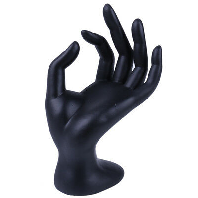 Polyresin Hand Bracelet Display Matte Black