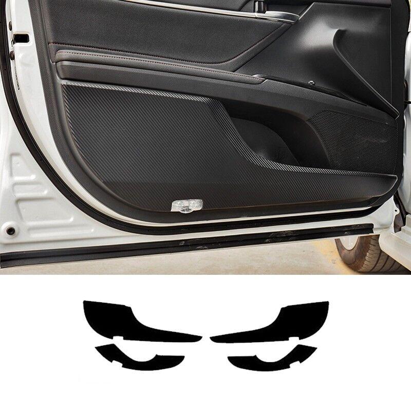 4pcs Carbon Fiber Door Anti Kick Pad Sticker Cover Trim For Toyota Camry 2018