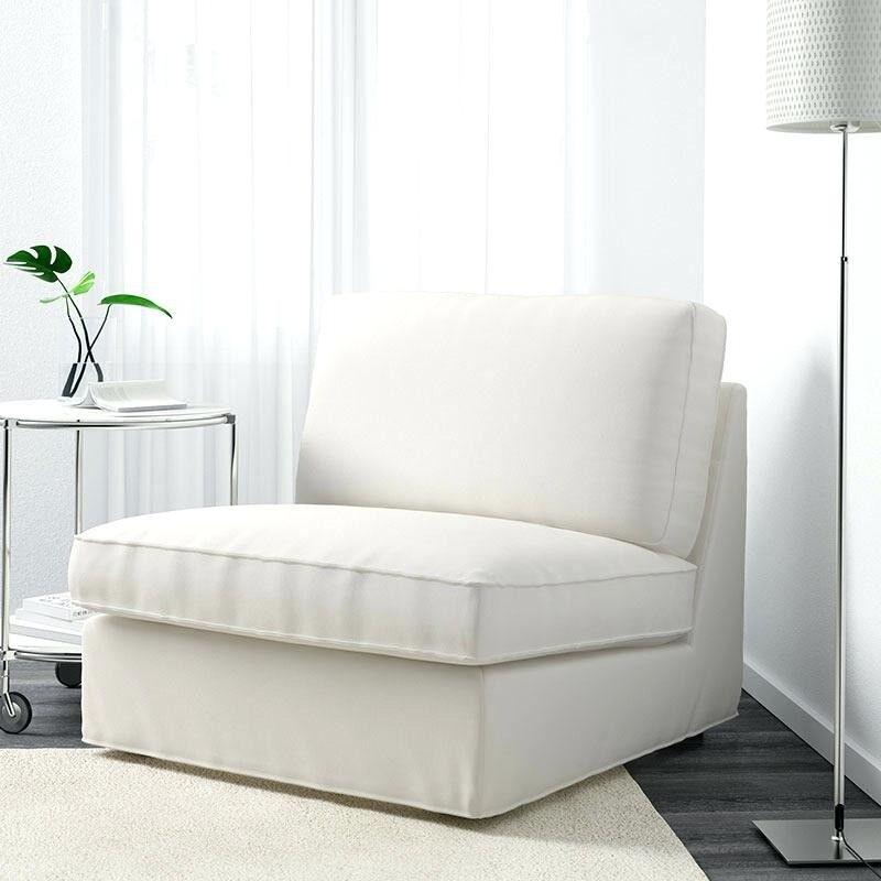 ikea kivik armless chair cream living room lounge