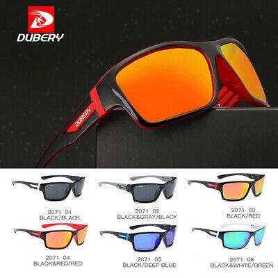DUBERY Herren Sonnenbrille Polarisiert Brille Sport Pilotenbrille Quadrat Rahmen