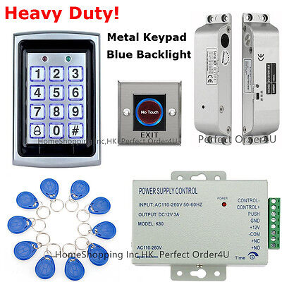 Metal RFID Card and Password Door Access Control System+Electric Bolt Lock TOP