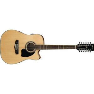 Ibanez 12 String Acoustic Electric Guitar PF1512ECE Natural NEW